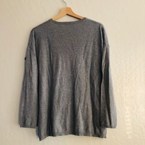 Zara Sweaters - 🌻 Zara Knit Gray v neck pullover sweater size S